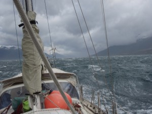 Breezy day on the Beagle
