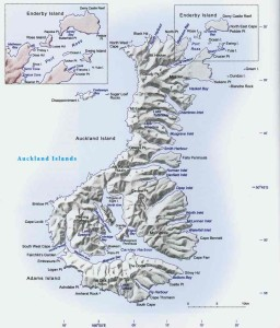 Auckland Islands Map