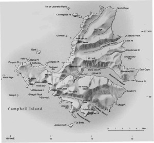 Campbell Island map
