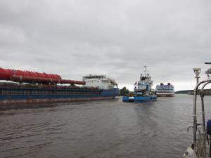 Vytegra River traffic