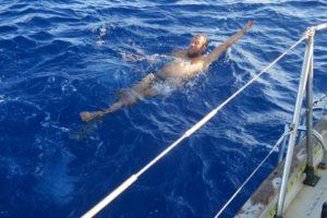 Swimming over Tonga Trench